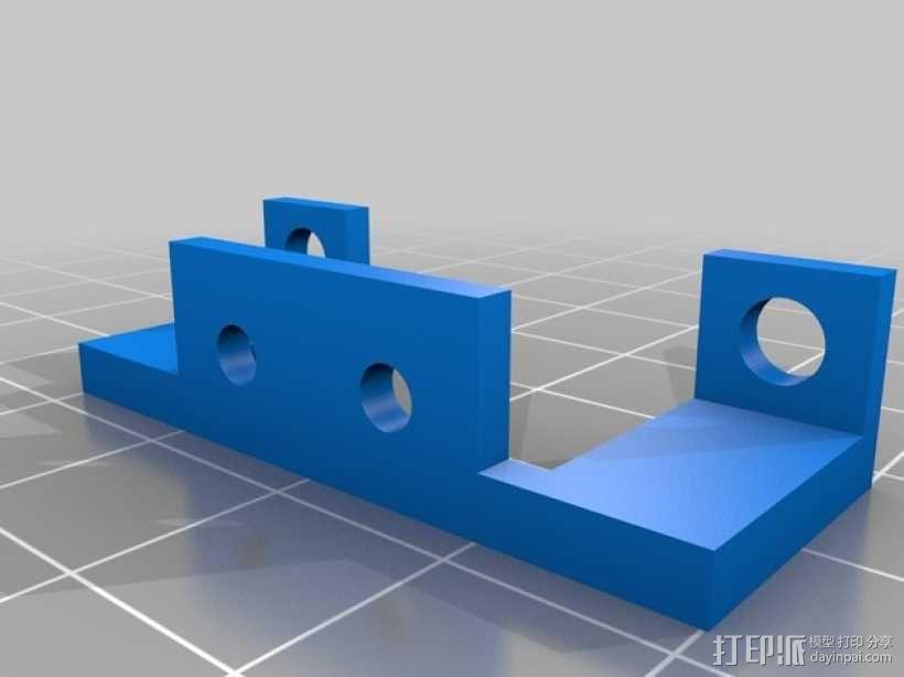 QUBD OneUp /TwoUp 打印机限位开关架 3D模型  图2