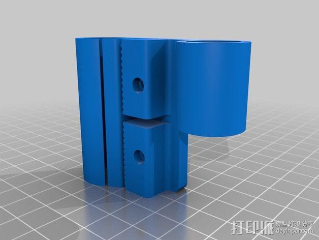 Prusa i3打印机X轴机箱框架 3D模型  图2