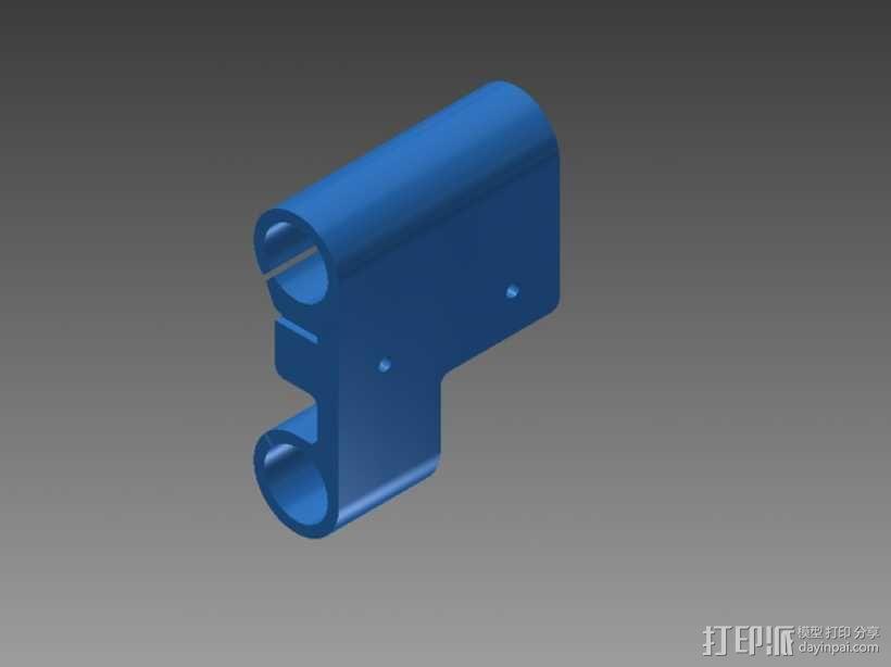 Prusa i3打印机X轴机箱框架 3D模型  图1