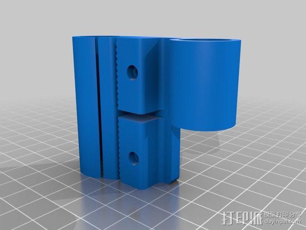 Prusa i3打印机X轴机箱框架 3D模型  图3