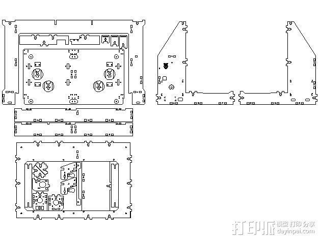 Graber 打印机 3D模型  图2
