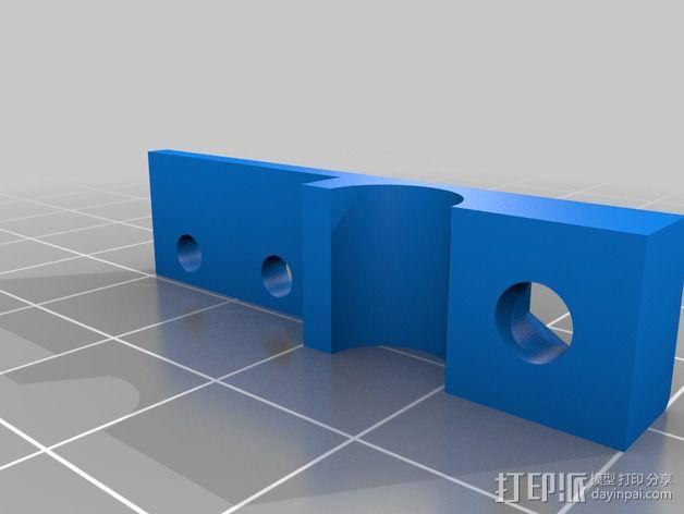 OneUp/TwoUp打印机Z轴限位开关固定架 3D模型  图3