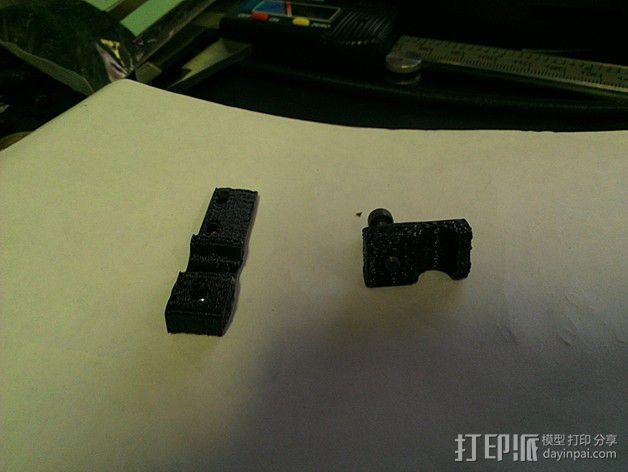 OneUp/TwoUp打印机Z轴限位开关固定架 3D模型  图5