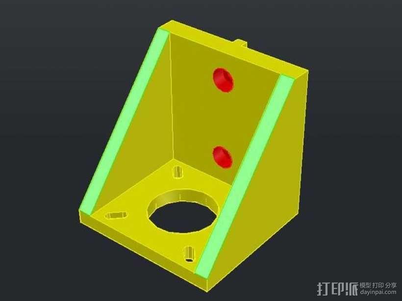NEMA17步进电机垂直支架 3D模型  图1