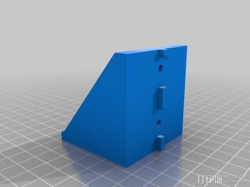 NEMA17步进电机垂直支架 3D模型  图2