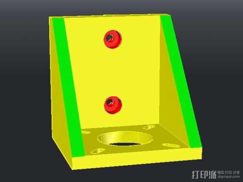 NEMA17步进电机垂直支架 3D模型  图3