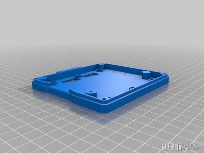 打印机智能控制器LCD显示屏保护外壳 3D模型  图2