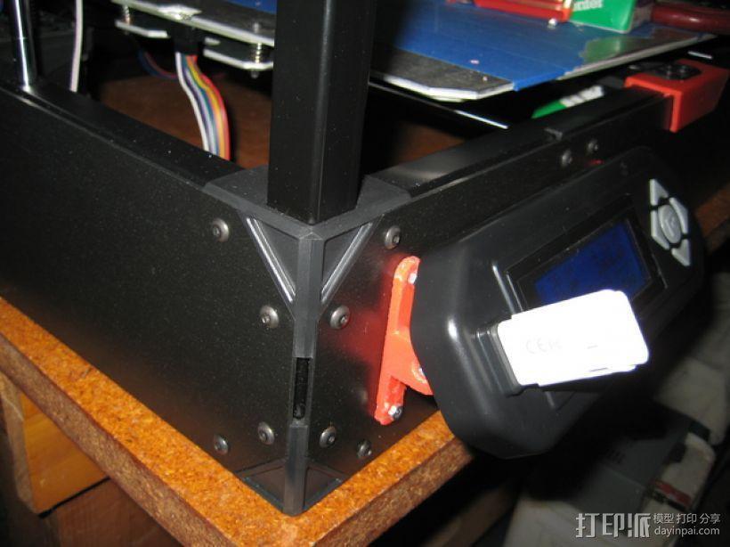 控制器仪表盘支架 3D模型  图3