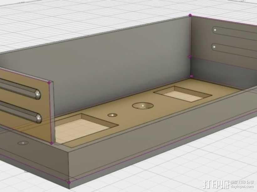 电源罩 电源保护罩 3D模型  图1