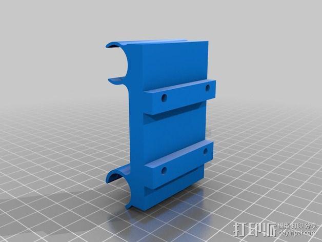 QUBD OneUp/TwoUp打印机的轴承架 3D模型  图2