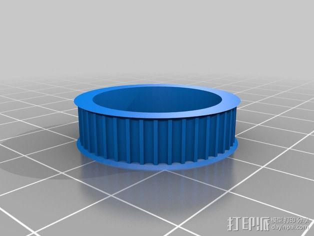 滑轮 3D模型  图2