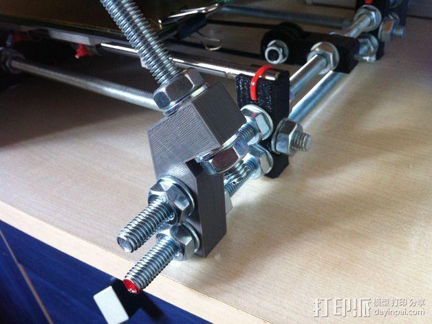 Prusa i3打印机Z轴固定套件 3D模型  图2
