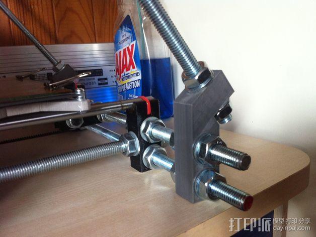 Prusa i3打印机Z轴固定套件 3D模型  图4