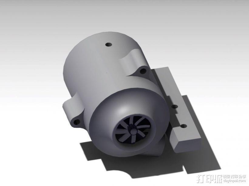 涡轮式风扇 3D模型  图1