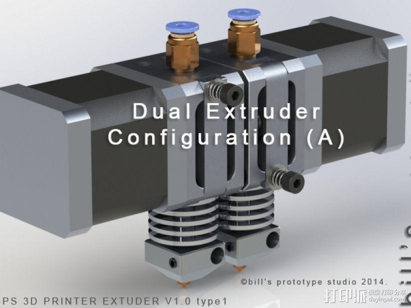 挤出机适配器 3D模型  图3