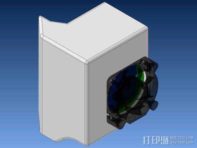 挤出机不仅马达散热器 3D模型  图2