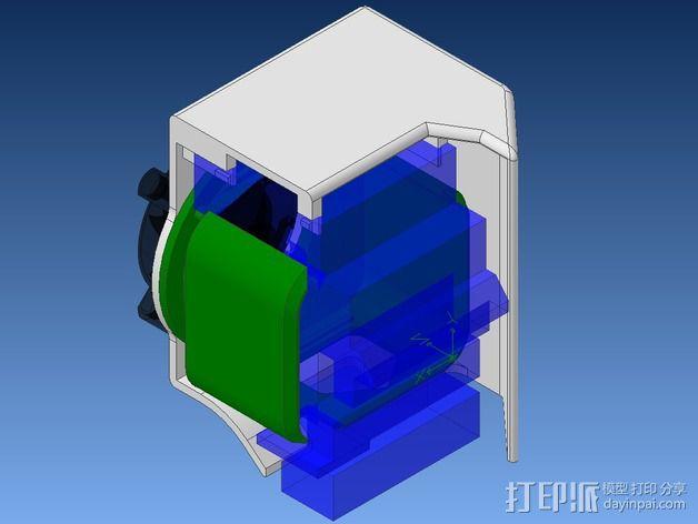 挤出机不仅马达散热器 3D模型  图3