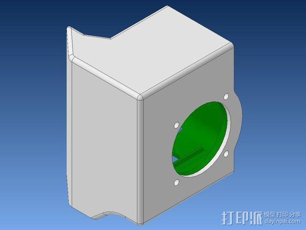 挤出机不仅马达散热器 3D模型  图4