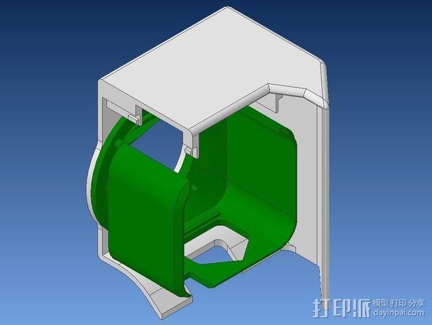 挤出机不仅马达散热器 3D模型  图5