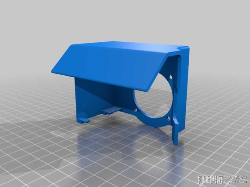 挤出机不仅马达散热器 3D模型  图19
