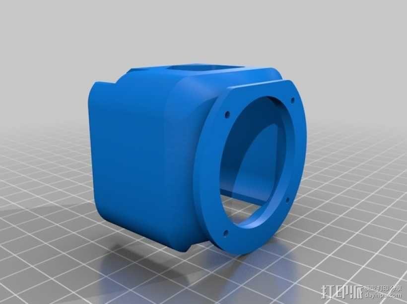 挤出机不仅马达散热器 3D模型  图20