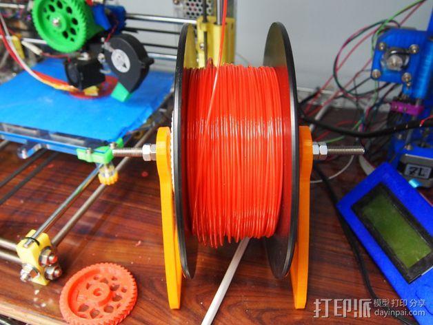 线轴轮 线轴架  3D模型  图3