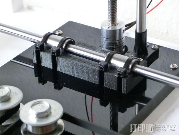 Y轴丝杆固定器 3D模型  图4