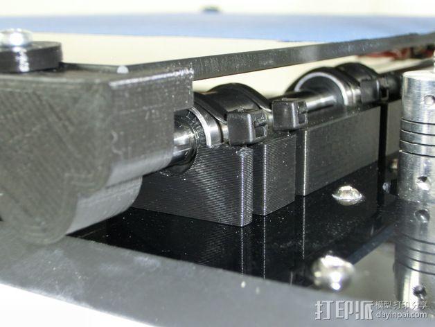 Y轴丝杆固定器 3D模型  图3