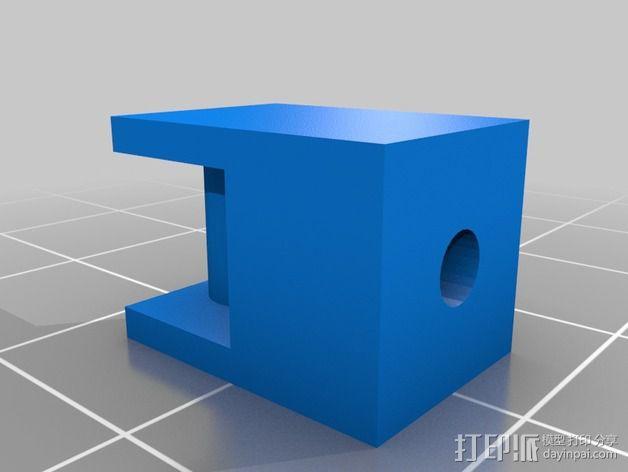 Y轴丝杆固定器 3D模型  图11
