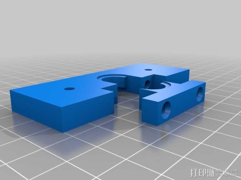 J-Head挤出机支架 3D模型  图2