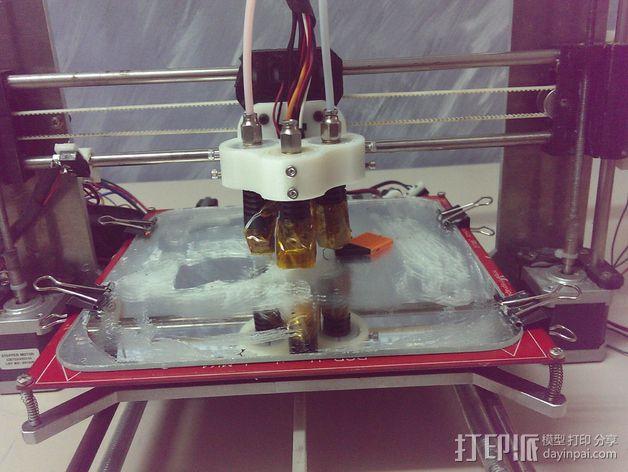 双挤出机/三喷头挤出机 3D模型  图4