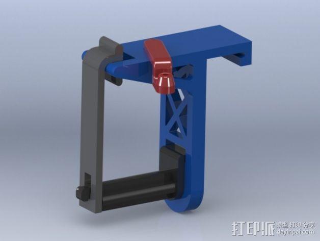带导线环的线轴架 3D模型  图1