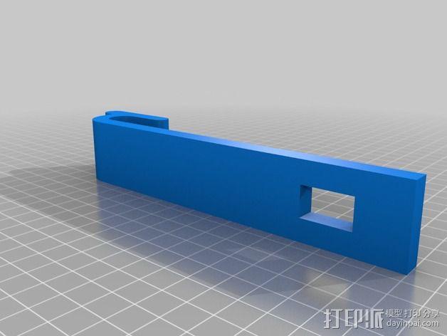 带导线环的线轴架 3D模型  图3