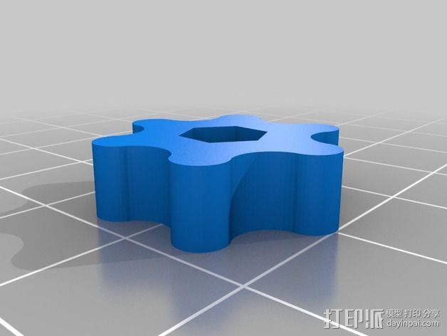 打印床调平套件 3D模型  图2