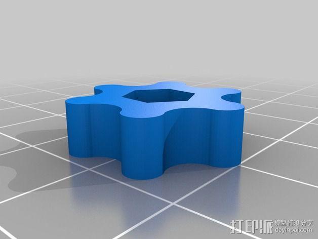 打印床调平套件 3D模型  图3