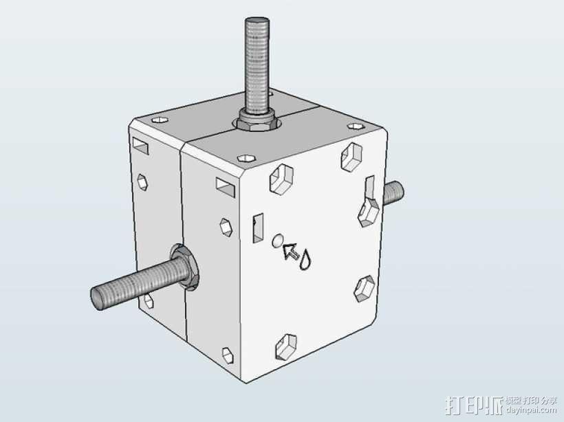 Nema 17步进电机电机盒 3D模型  图1