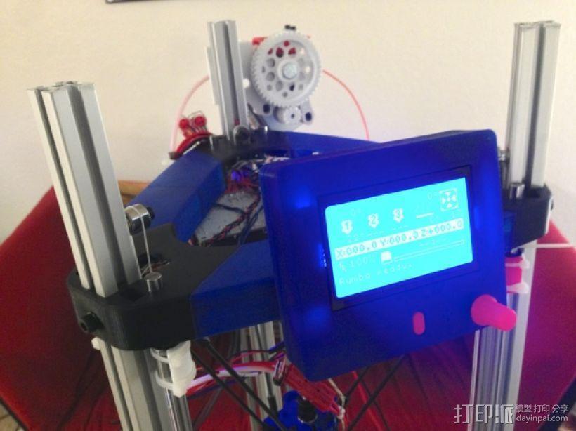 打印机控制器显示屏支架 3D模型  图1