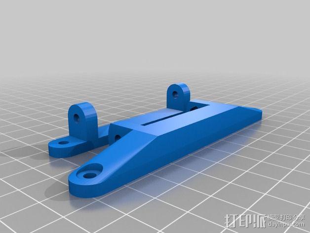 打印机控制器显示屏支架 3D模型  图2
