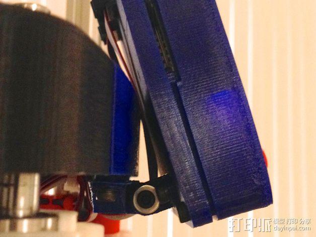 打印机控制器显示屏支架 3D模型  图3
