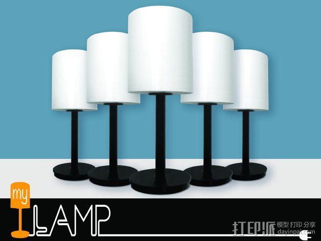 台灯 3D模型  图1