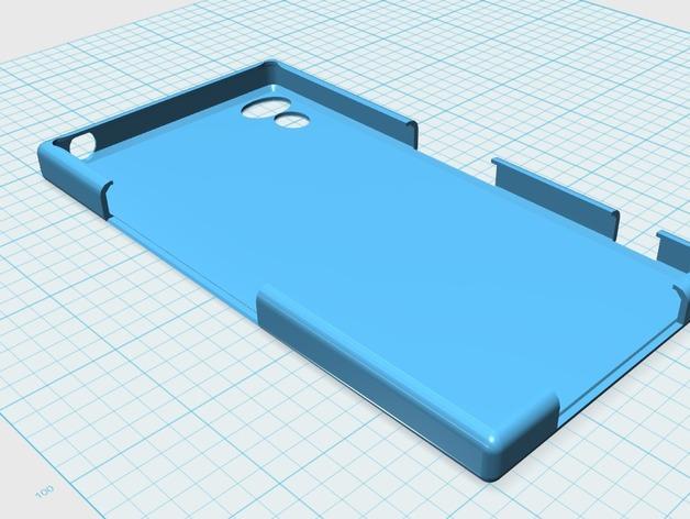 Sony Xperia Z保护壳 3D模型  图1