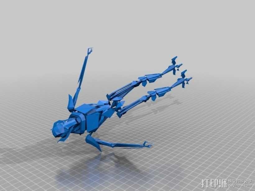 星球大战 格里弗斯将军 3D模型  图1