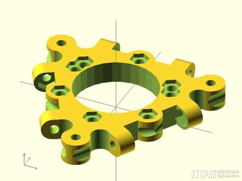 打印机喷嘴支架 3D模型  图2