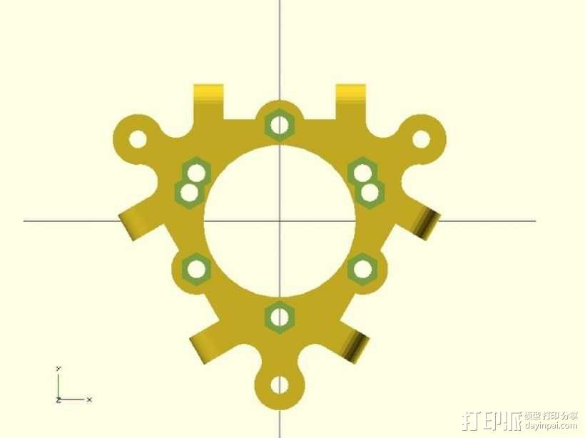 打印机喷嘴支架 3D模型  图3