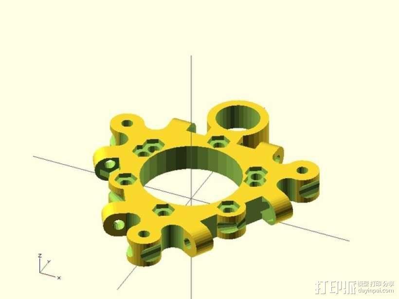 打印机喷嘴支架 3D模型  图4