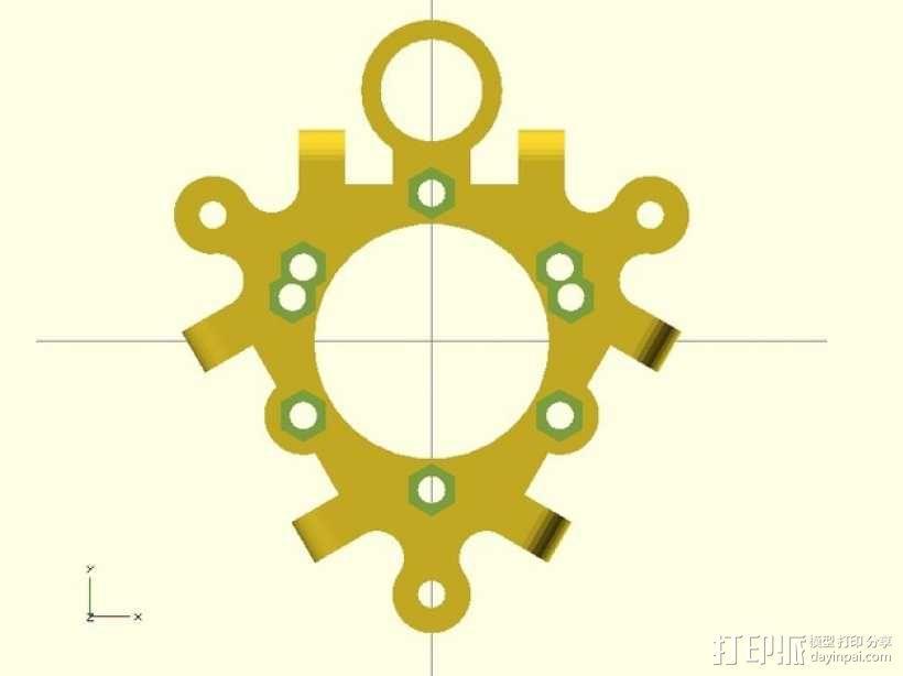 打印机喷嘴支架 3D模型  图5