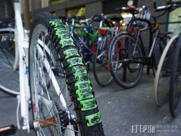 自行车轮胎纹 3D模型  图1