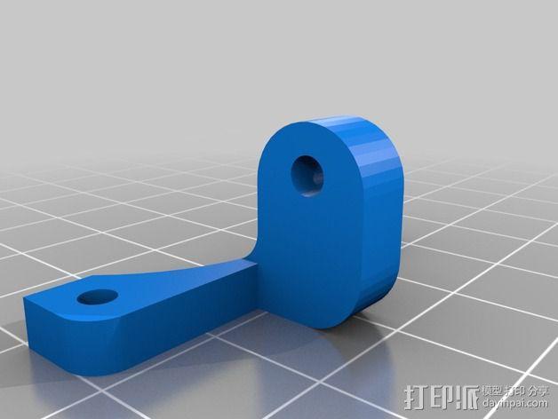 Kossel Mini 风扇支架 3D模型  图2