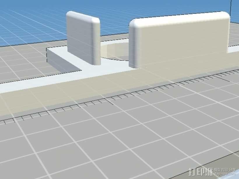 DJI Phantom TK102 GPS 追踪器支架 3D模型  图2