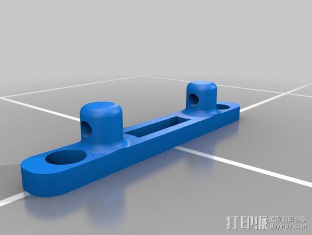 Printrbot Simple打印机Z轴导线器 3D模型  图2